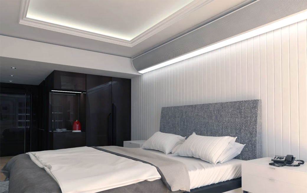 Cornice Multi-Service Chilled Beams in Hotel